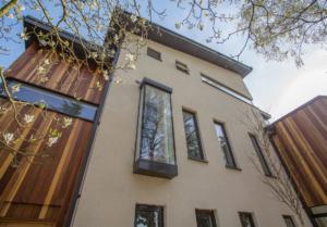 aluminium fascias and soffits on contemporary new build cefn coed