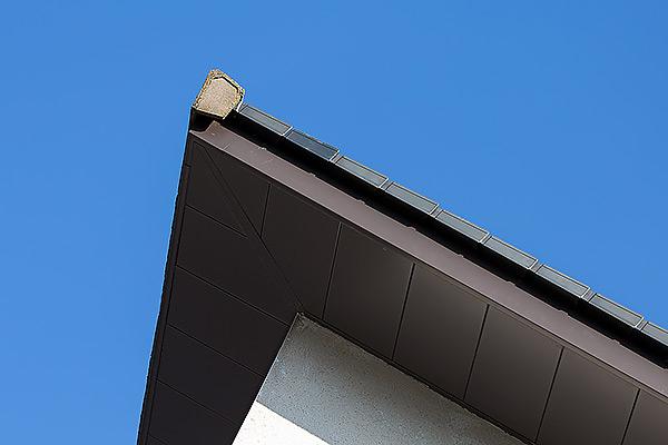 Cefn Coed Aluminium Fascia Soffit Corner Close Up