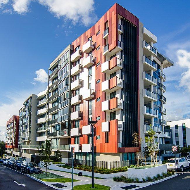 ceramapanel facade fibre cement cladding panels for broadwater building