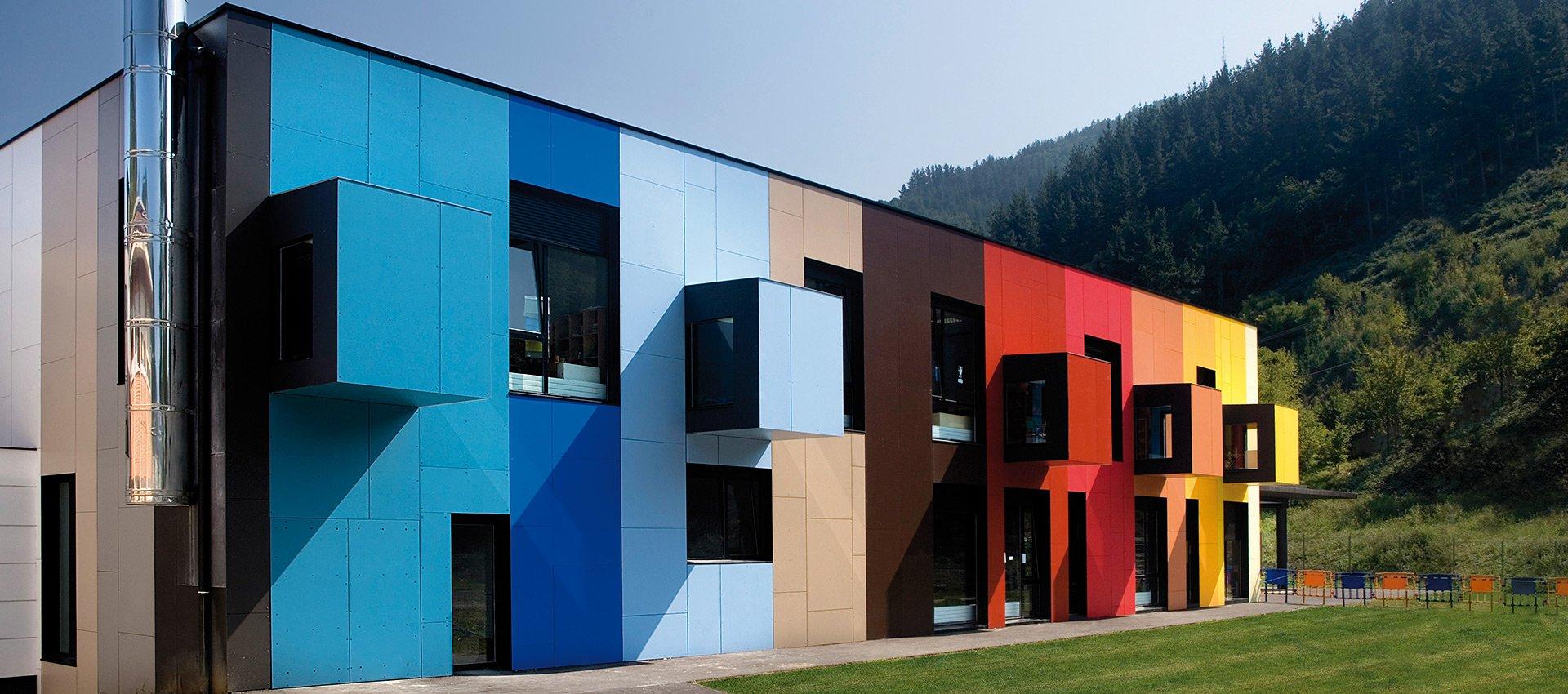 husk architectural rainscreen cladding high pressure laminate (hpl) formica vivix phenolic, engineered exterior facade panels