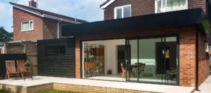 husk rainscreen residential aluminium cladding rear of household property