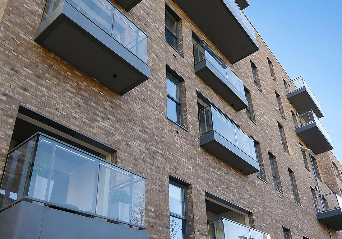 Aluminium balcony cladding by Husk Architectural