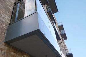 husk architectural aluminium balcony fascias and cills