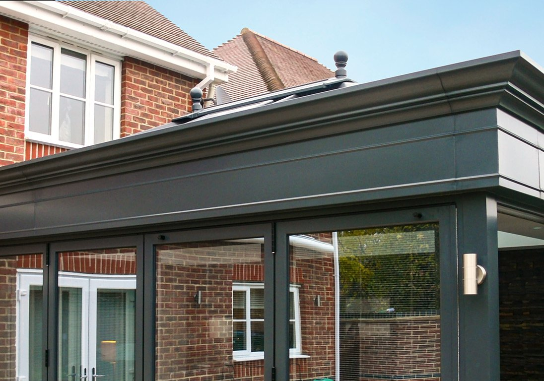 husk fascias rear of house conservatory