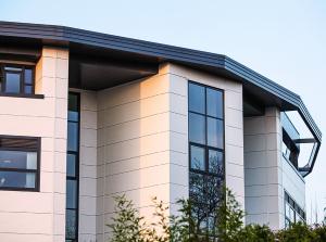 hammersmith academy aluminium wraparound cladding fascias walkway soffits
