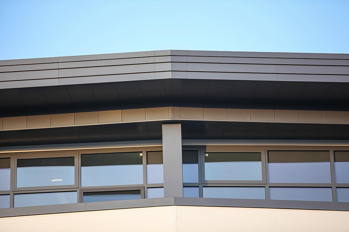 husk aluminium wraparound cladding fascias walkway soffits hammersmith academy