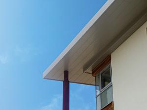 husk architectural's aluminium soffit plank system