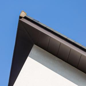 husk aluminium corner soffits contemporary new build cefn coed